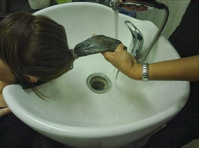 Lavar la coleta degradada