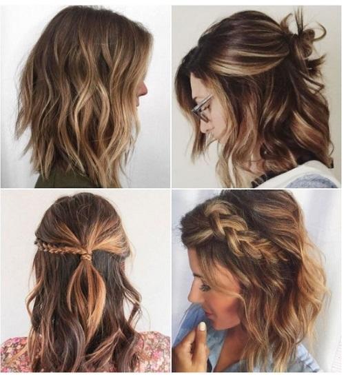 peinados con long bob